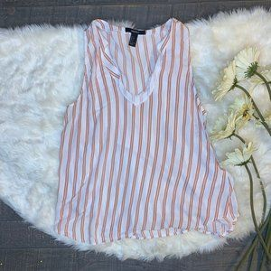 Red and White Striped Sleeveless Top